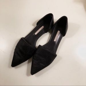 Zara Shoes - Zara Black Calf Hair d'Orsay Flats